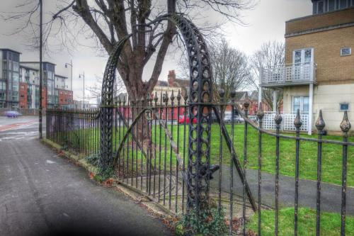 Gosport St George Barracks Iron gateway